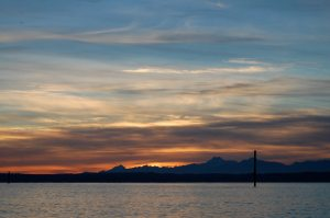 November Sunset - Twelve Months at Cultus Bay