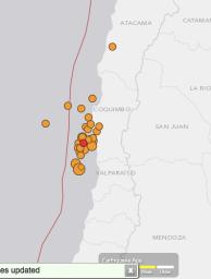 Chile quakes > 2.5